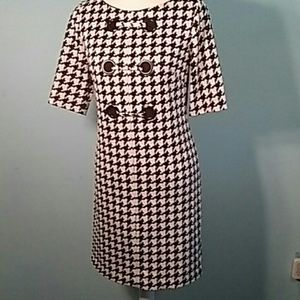 Adrianna papell 8 houndstooth shift dress career